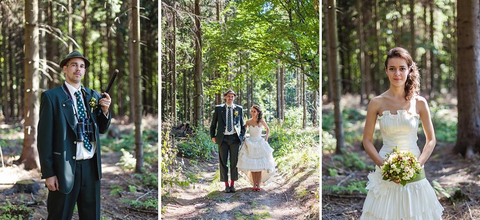 Barča a Honza a svatba na Sovinci s focením v lese