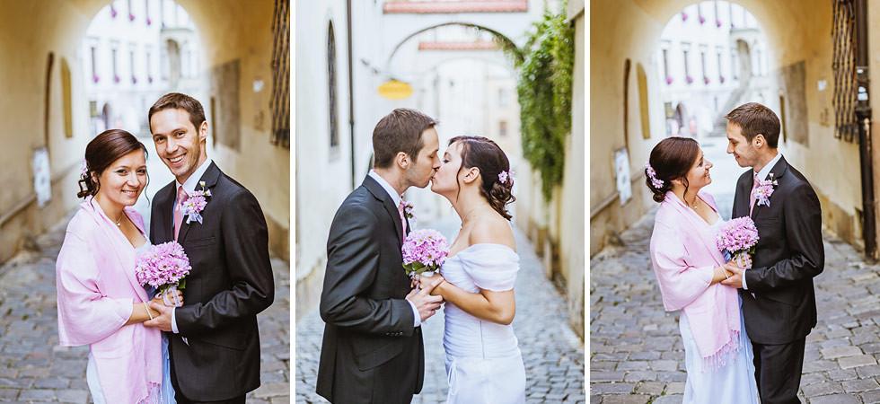Lenka a Jirka na svatbě v Olomouc