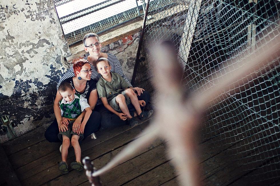 Zuzka s rodinkou v Mořici na zvonici