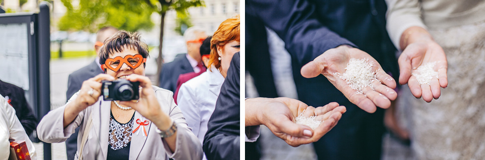 Svatebčané čekají na novomanžele