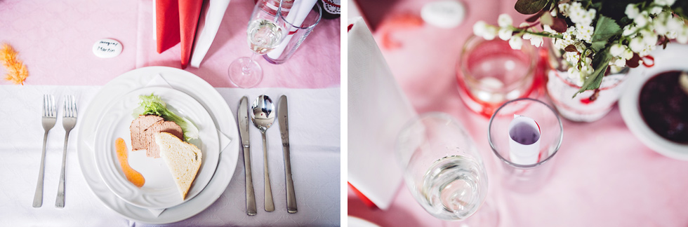 Svatební tabule a předkrm