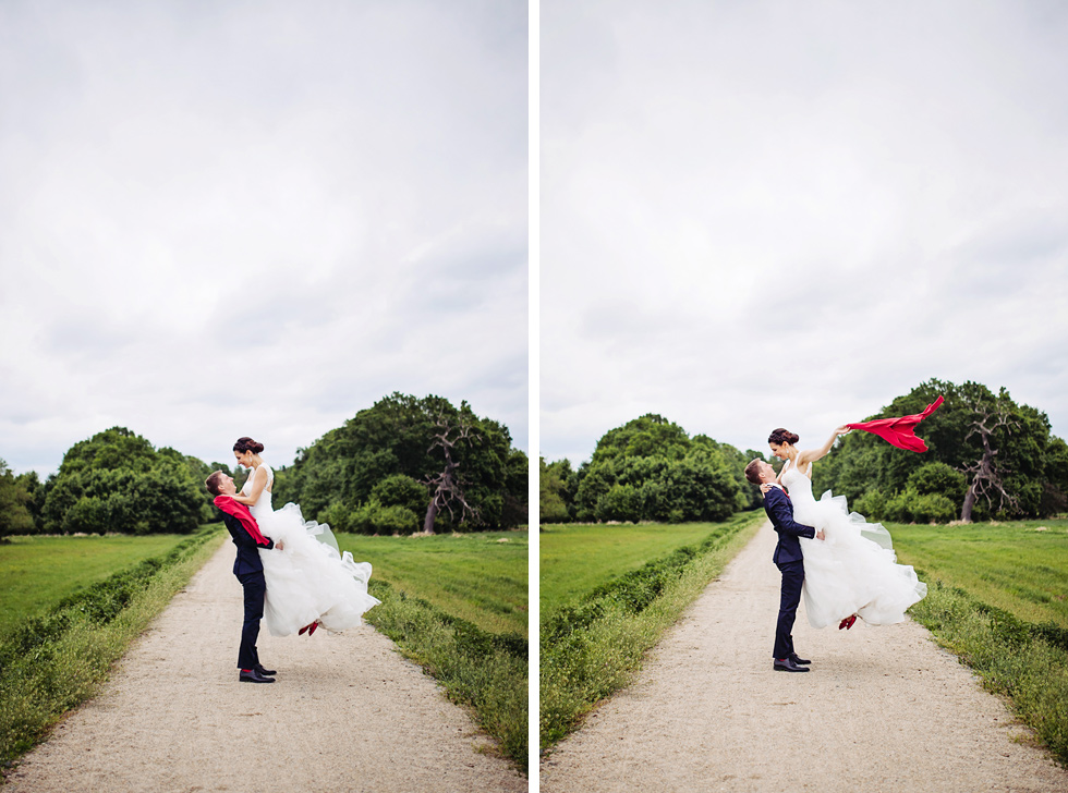 Ženich zvedl nevěstu