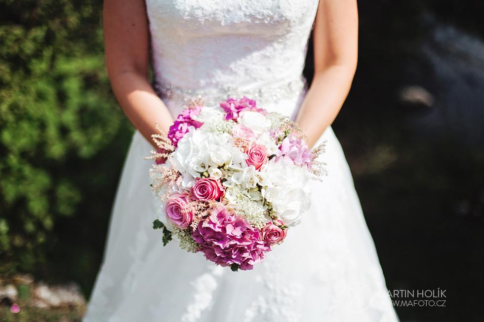 Fotografie svatební kytice