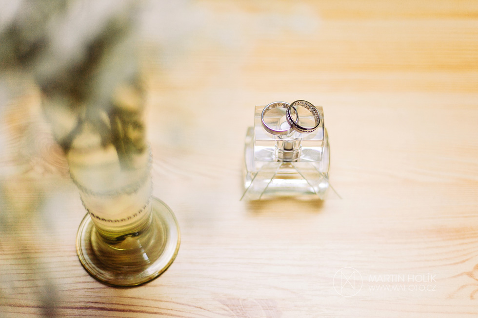 Fotografie svatebních prstýnků