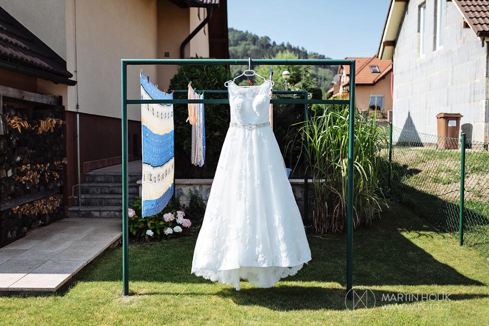 Fotografie svatebních šatů