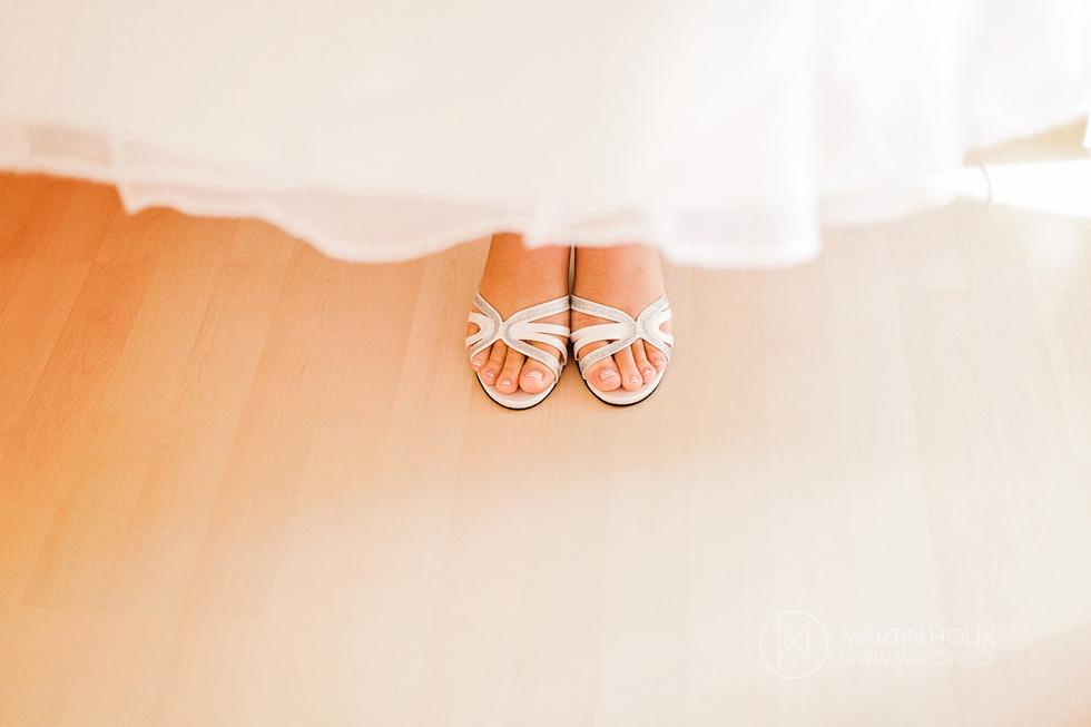 Nevěsta a její svatební střevíce