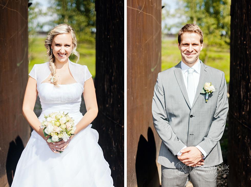 Nevěsta a ženich a jejich portrét