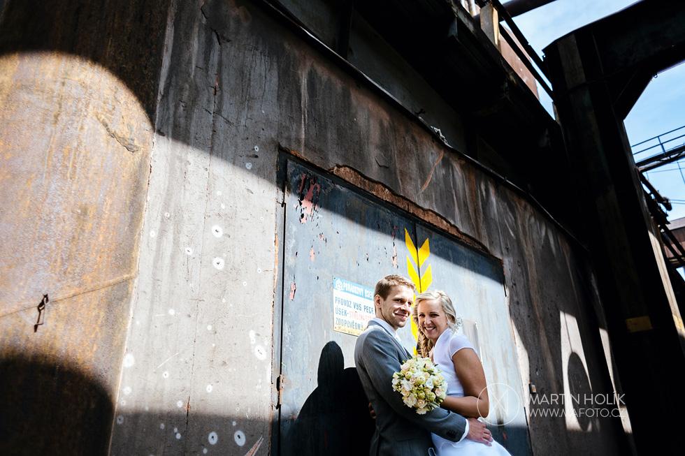 Nevěsta a ženich ve Vítkovicích