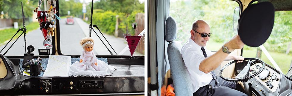 Pan řidič svatebního autobusu
