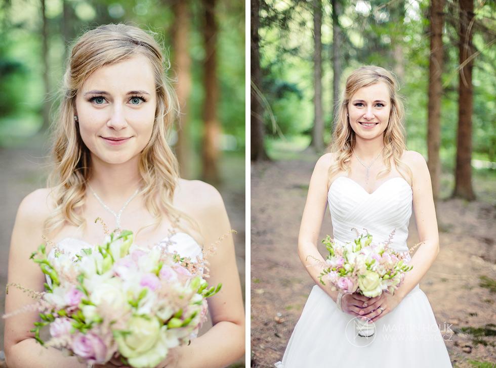 Portrét nevěsty v lese