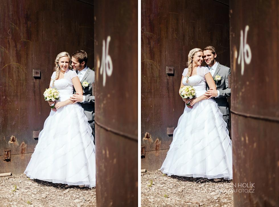 Portrét ženicha a nevěsty ve Vítkovících