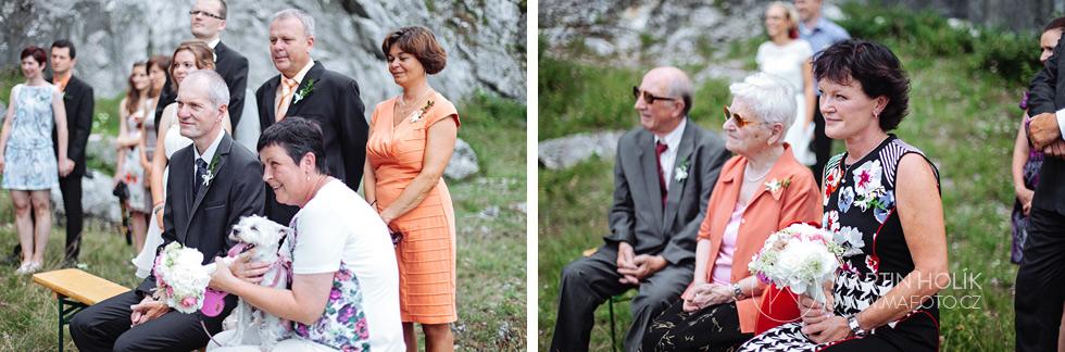 Rodiče na svatebním obřadu
