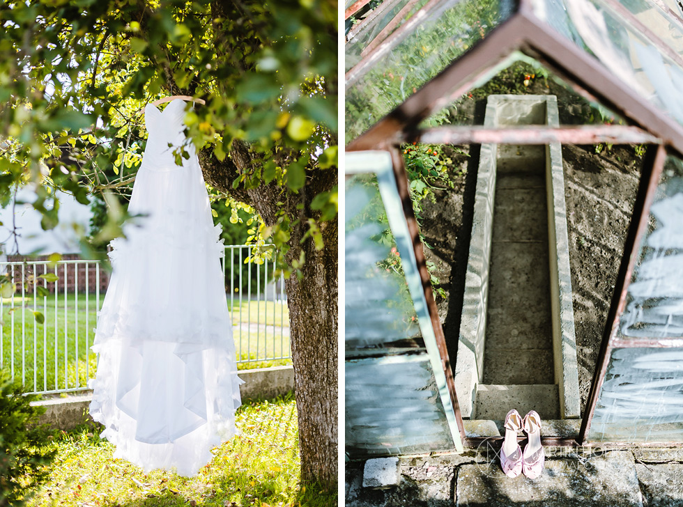 Svatební šaty a svatební střevíce