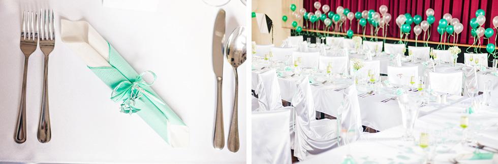 Svatební tabule na svatební hostině