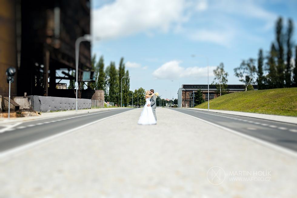 Ženich a nevěsta jako model