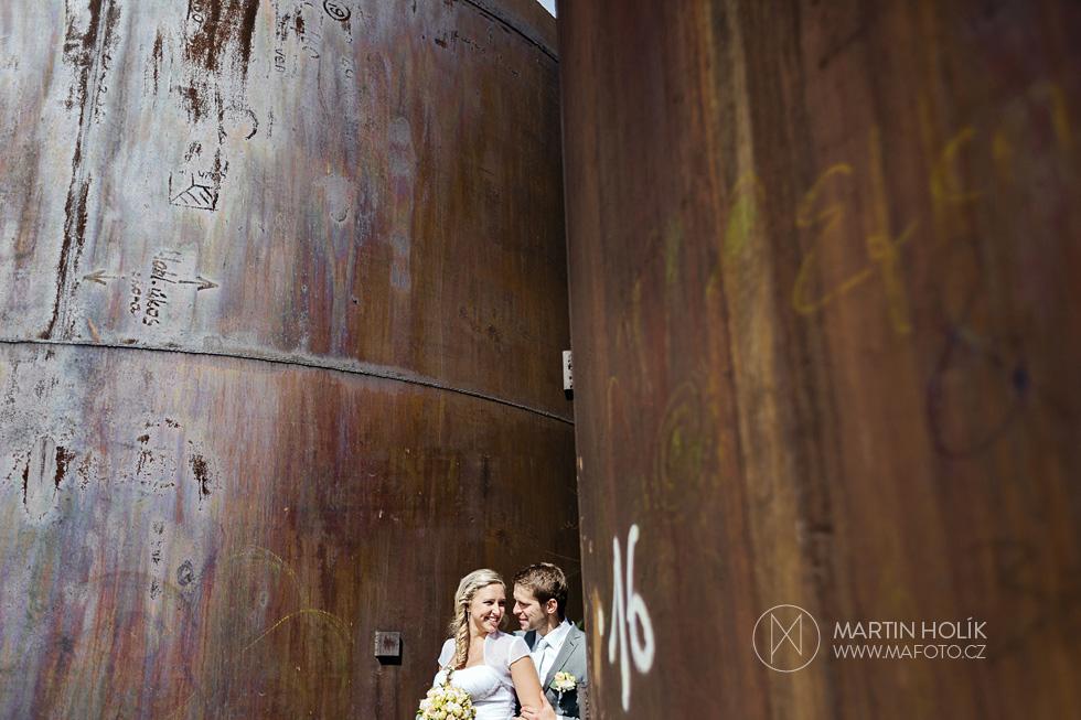 Ženich a nevěsta v ostravských železárnách