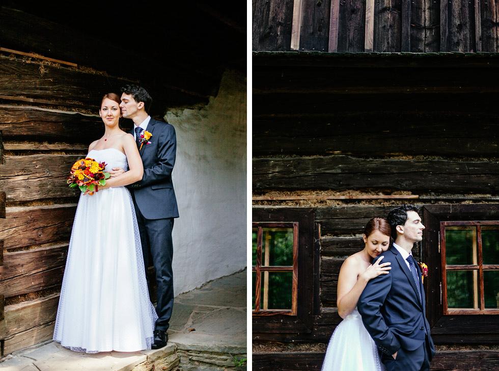 Dvojportrét překrásné nevěsty a ženicha