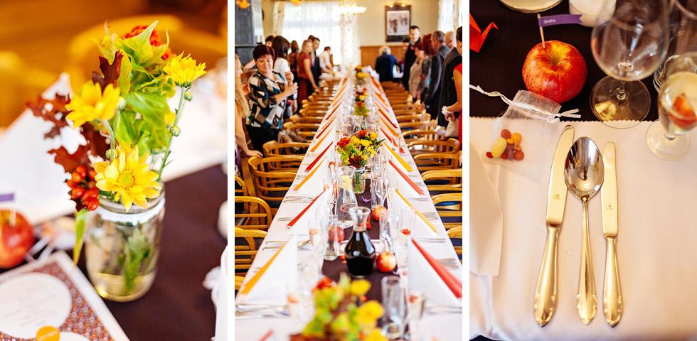 Krásná svatební slavnostní tabule