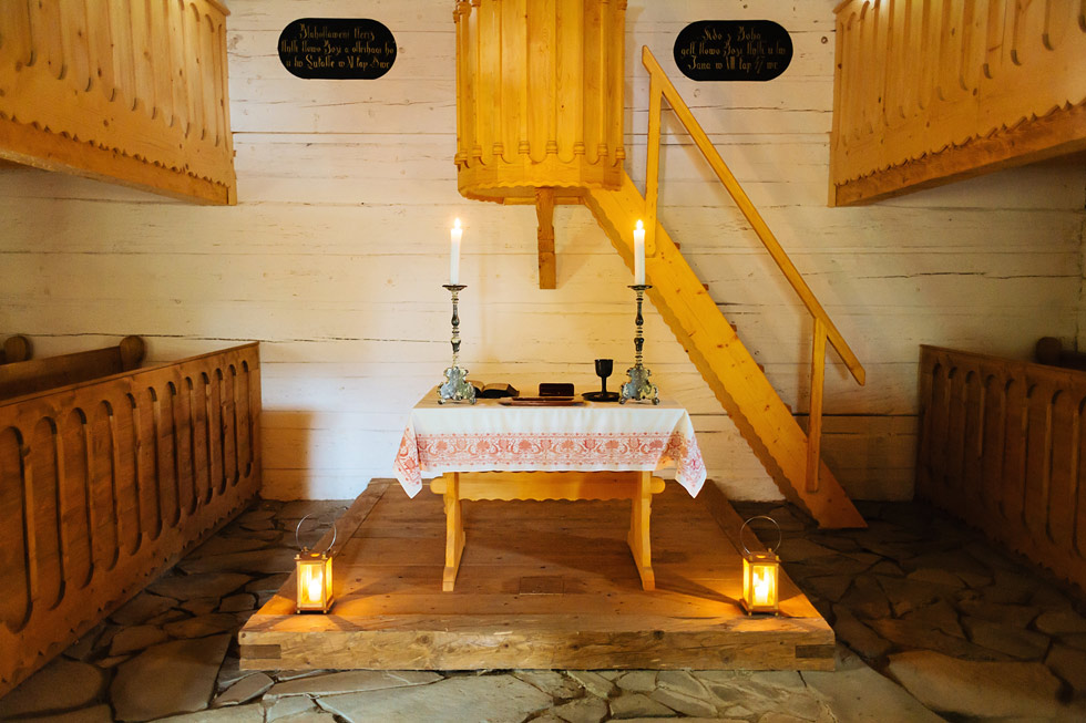 Obřadní místo ve skanzenu v Rožnově