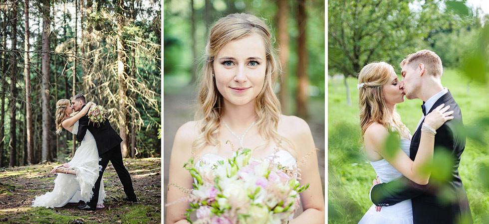 Série svatebních snímků z jedné překrásné svatby