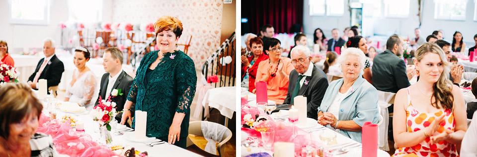 Maminka nevěsty má krásný proslov na hostině