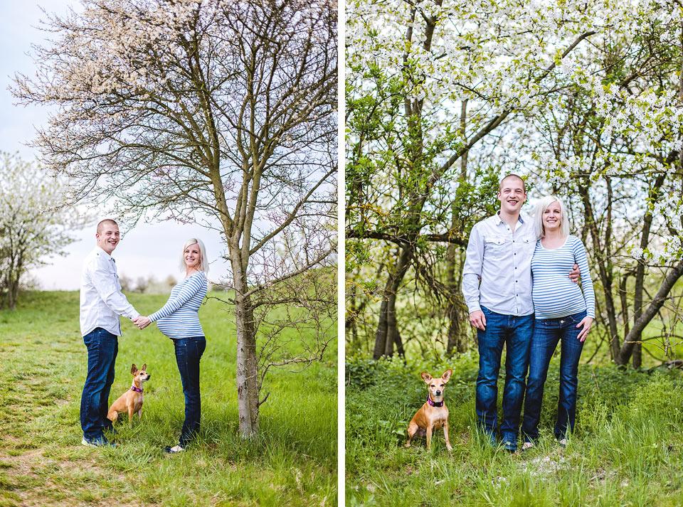 Manžel, manželka, miminko a pes