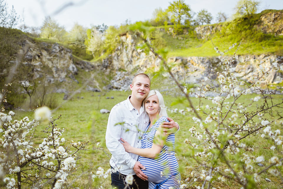 Těhotenské foto skvělého páru