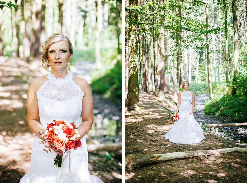 Lesní portrét nevěsty