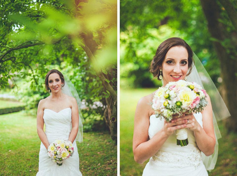 portrét krasné nevěsty v kroměřižském parku