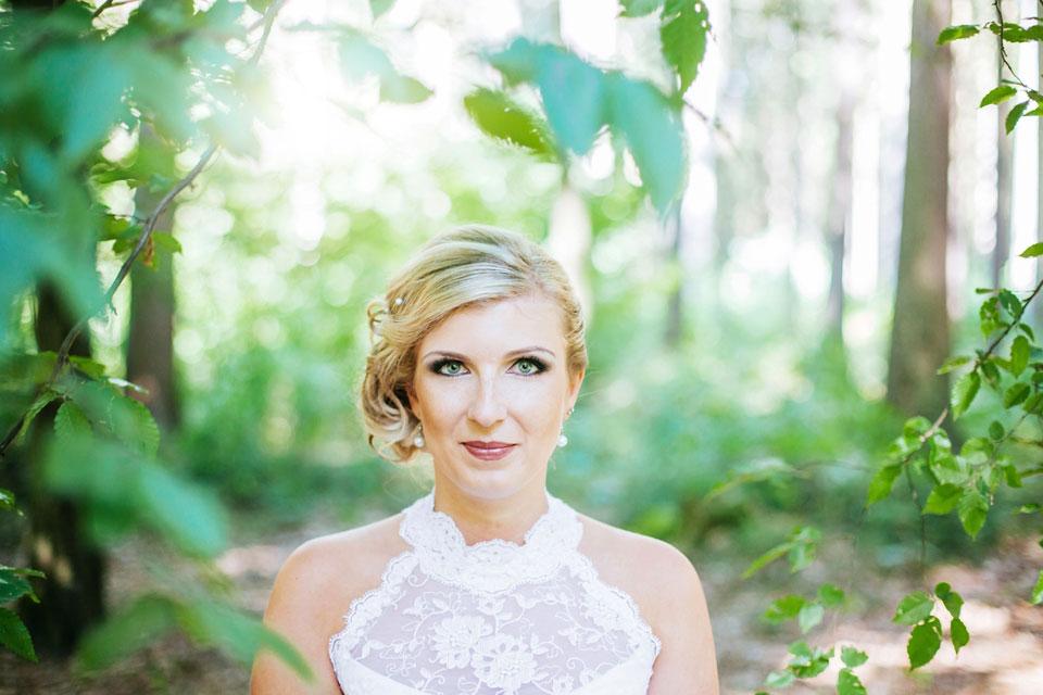 Svatební portrét kráné nevěsty