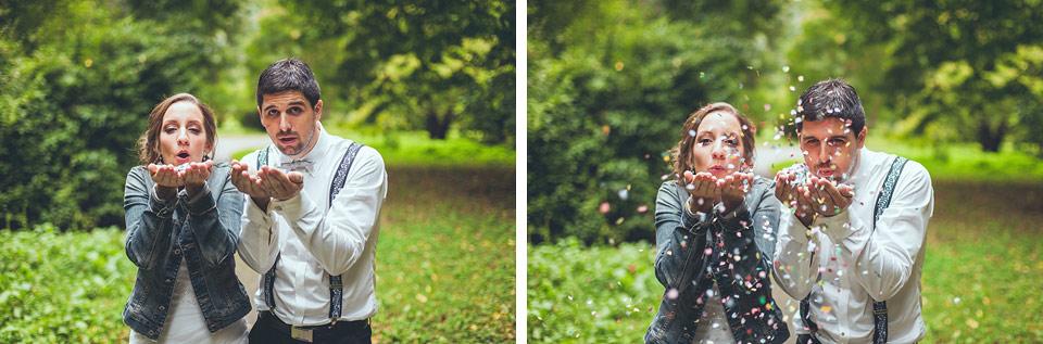 veselá fotografie nevěsty a ženicha