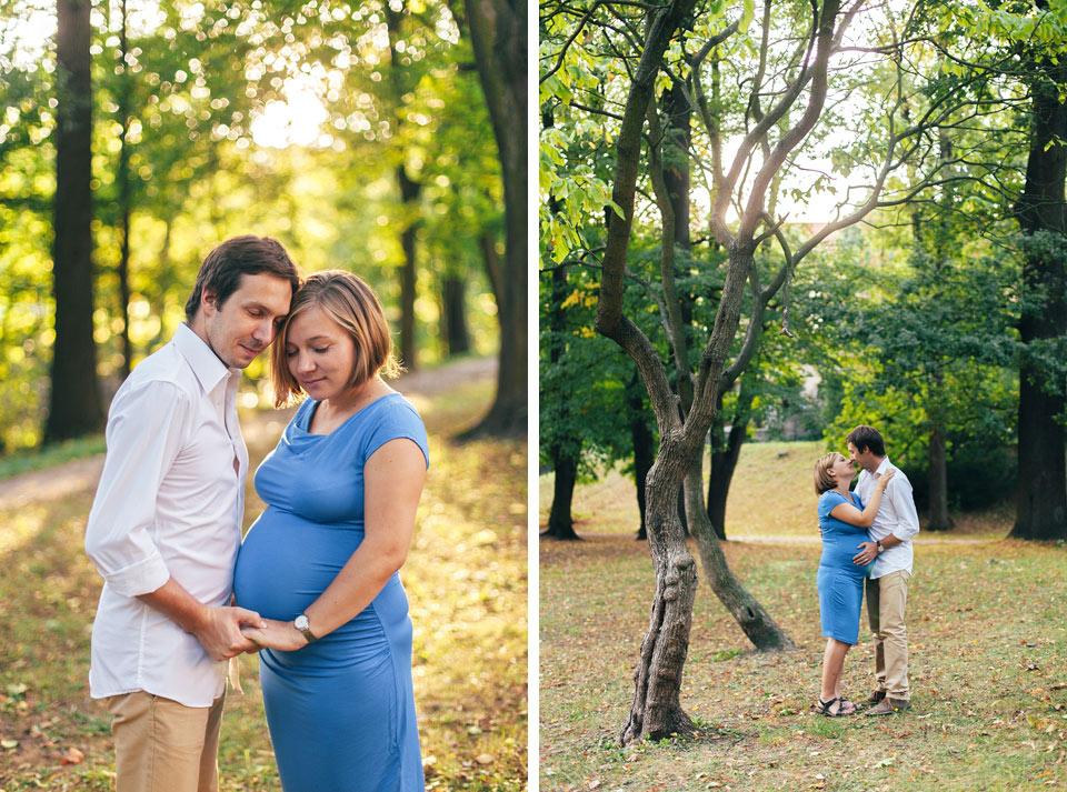 Těhotenské fotografie v parku