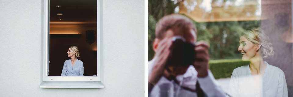 Efektní fotografie odrazu fotografa v okně