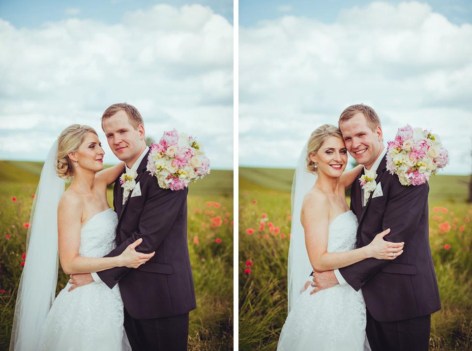 Dvojportrét krásné nevěsty a ženicha
