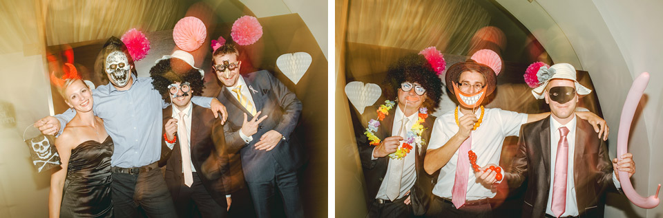 Sranda ve svatebním fotokoutku