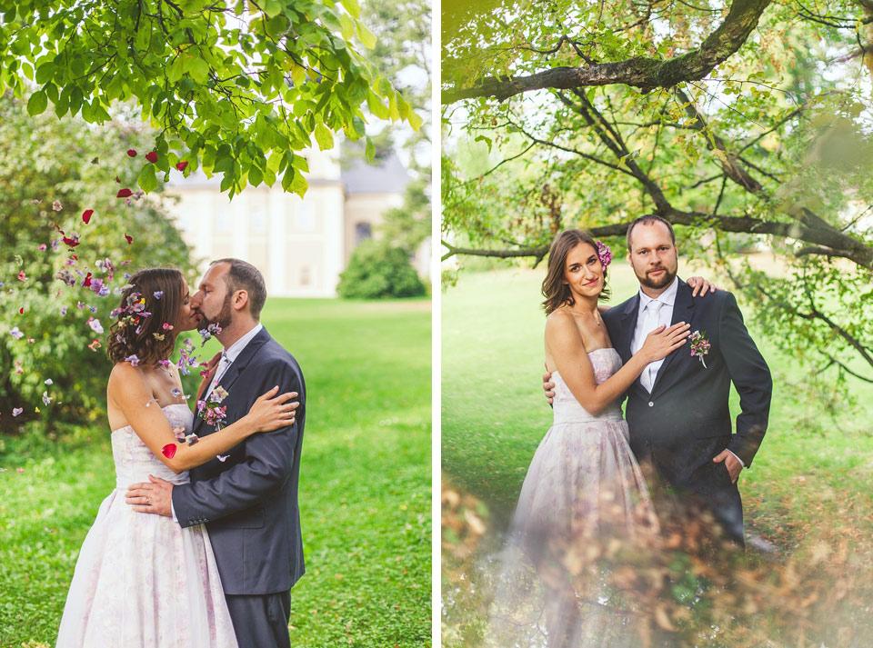 Dvojfotka ženich a nevěsty