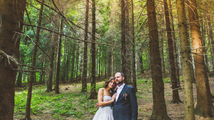 Svatební fotografie z Loučné nad Desnou