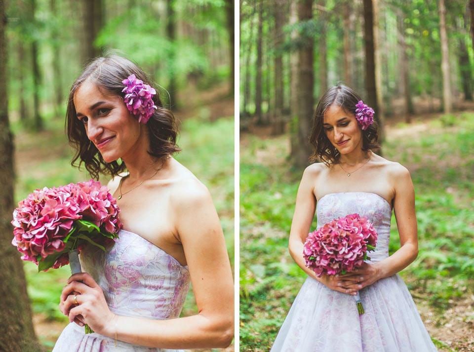 Portrét nevěsty v lese v Loučné nad Desnou