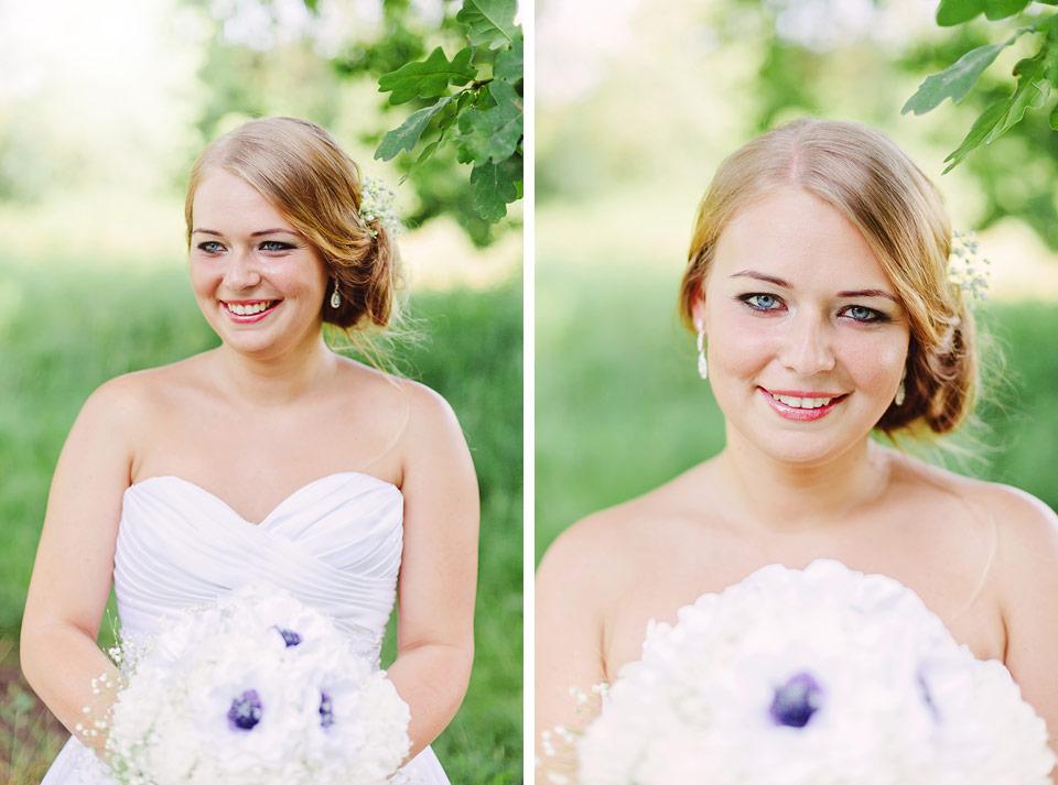 Portrét nevěsty v přírodě