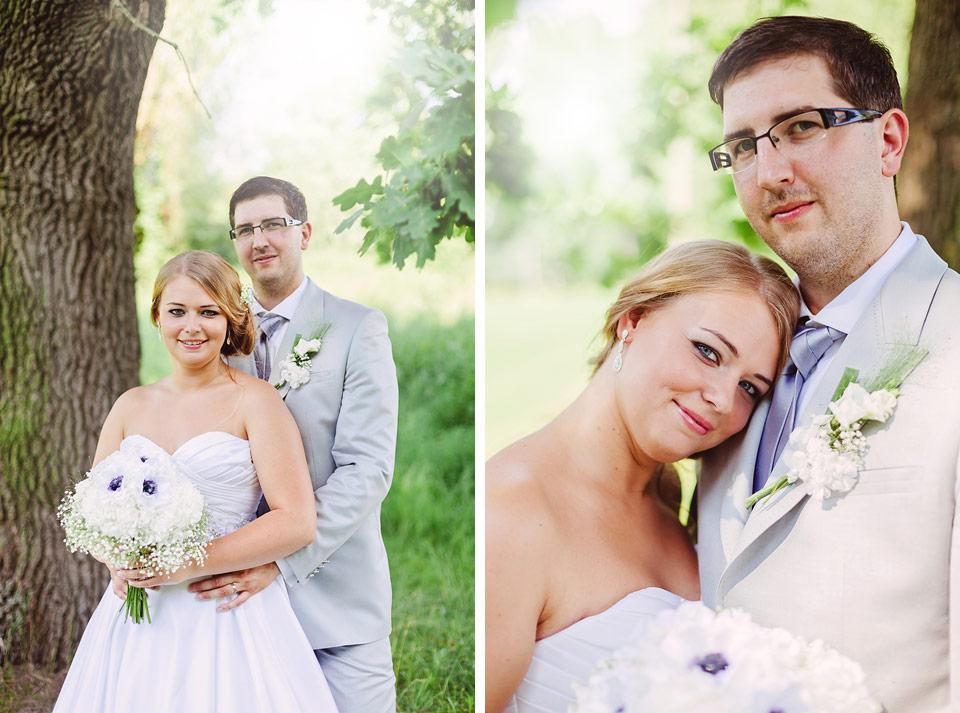 Romantický portrét nevěsty a ženicha