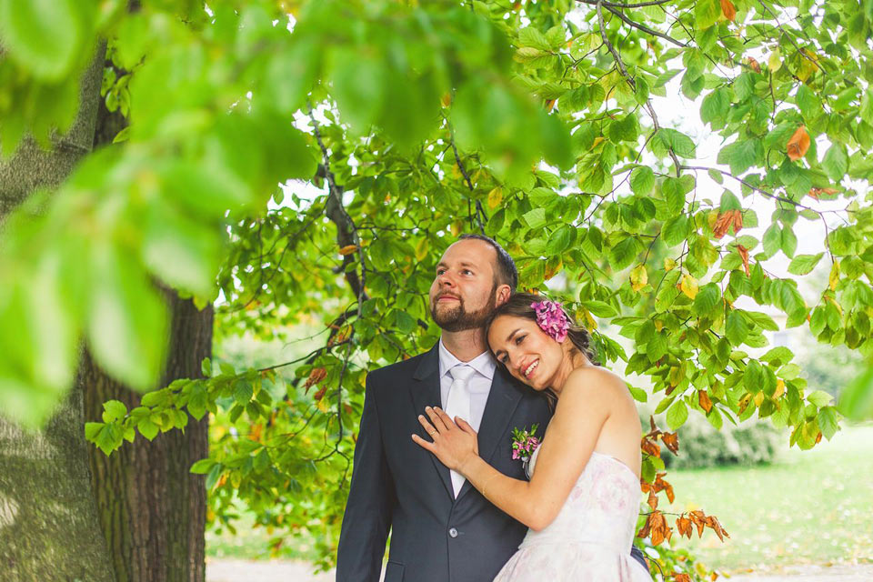 Romantický svatební portrét v Loučné nad Desnou