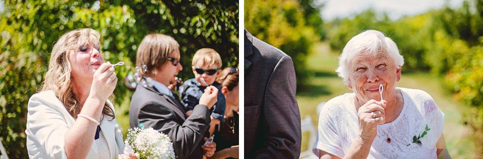 Svatební bublifuky v akci