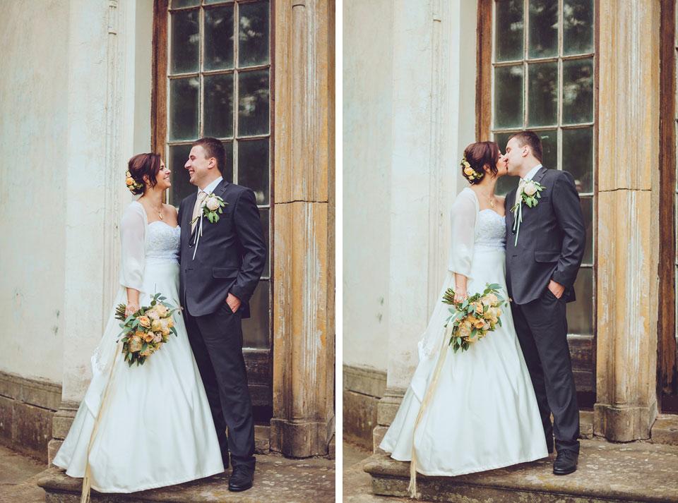Dvojfotka ženicha a nevěsty v Čechách pod Kosířem