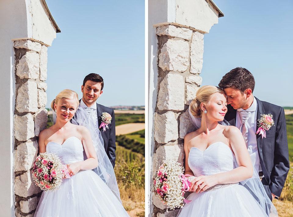 Dvojportrét ženicha a nevěsty z Velkých Bílovic