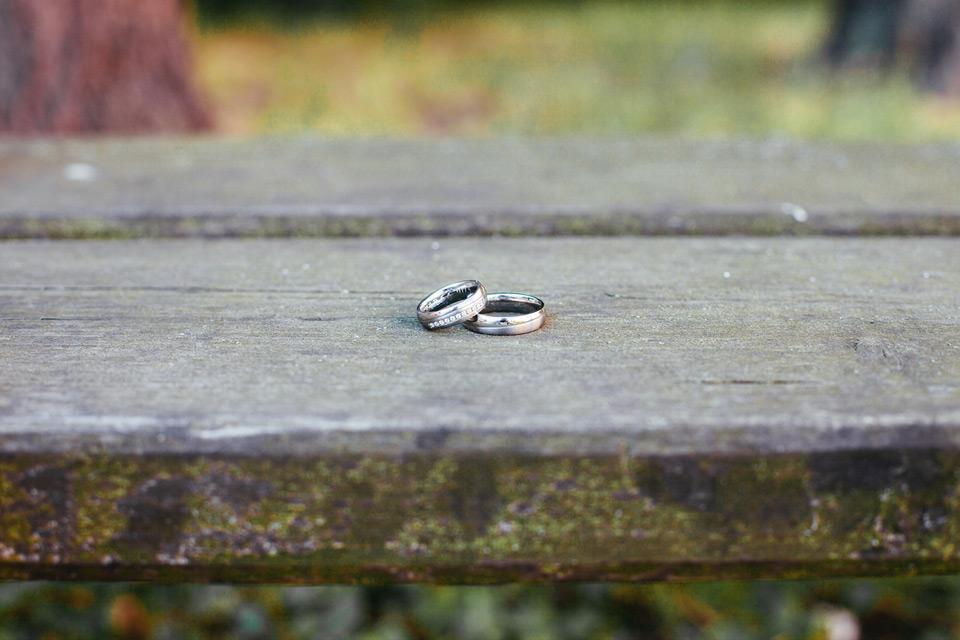 Fotka svatebních prstýnků