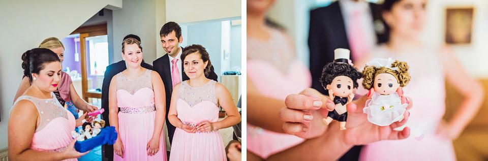 Fotografie dárků pro nevěstu a ženicha