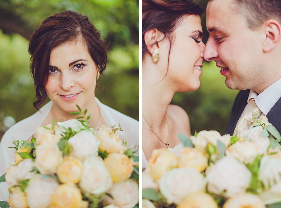 Fotografie nevěsty a ženicha
