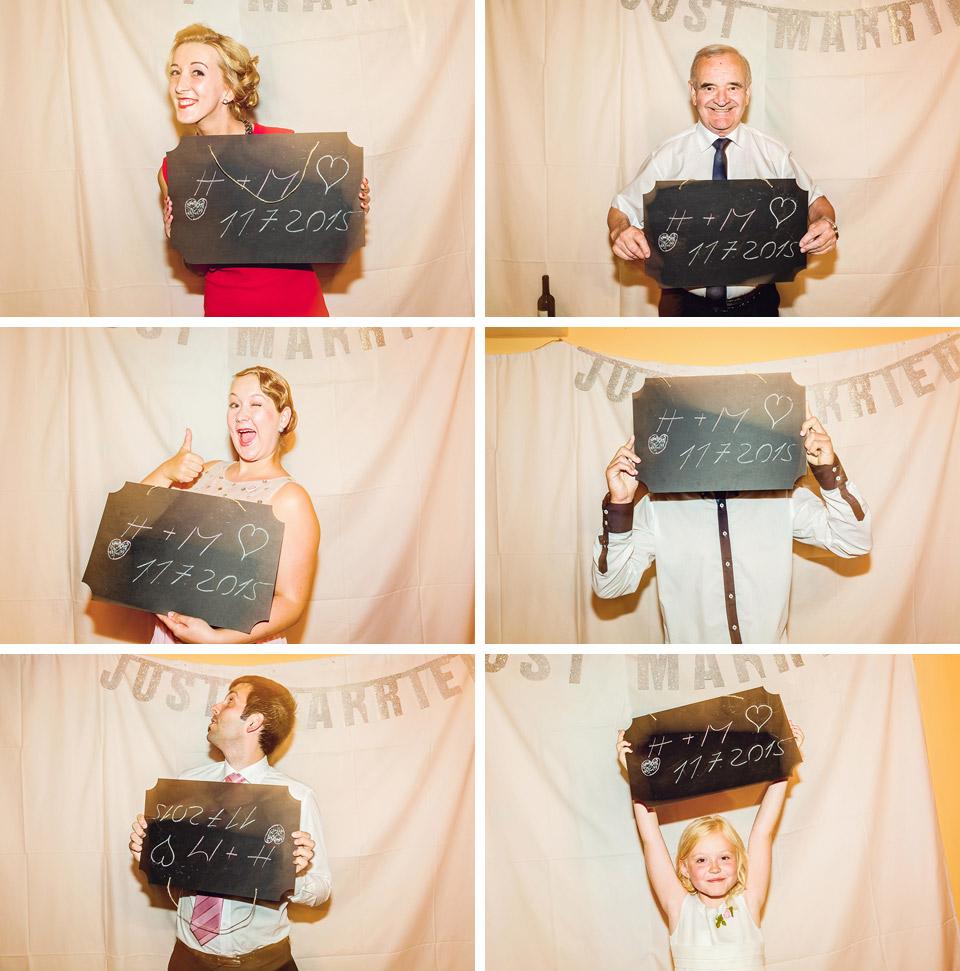 Fotokoutek a vzkazy nevěstě a ženichovi