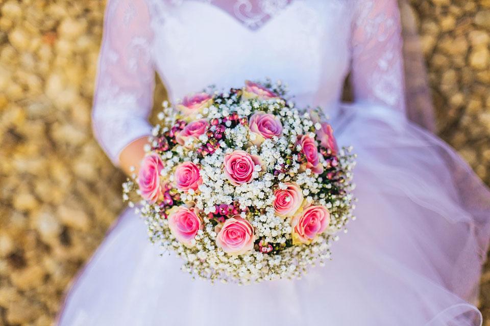 Nevěstina svatební kytice