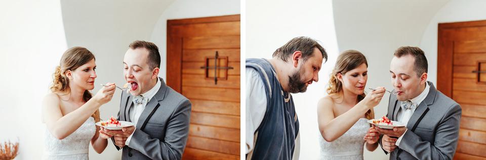 Ochutnávka svatebního dortu